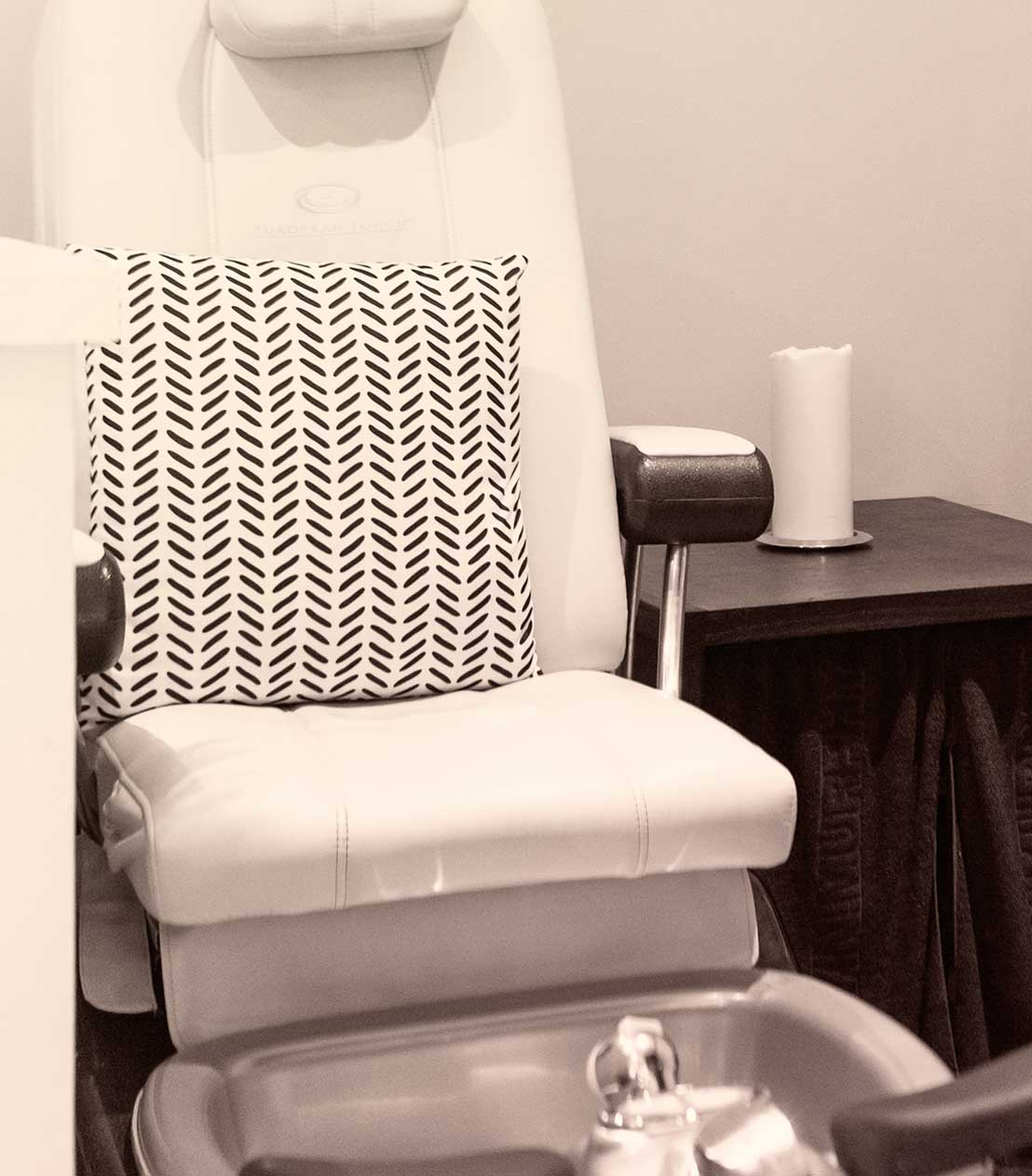 Pedicure chair at Hair salon in Naples, Florida