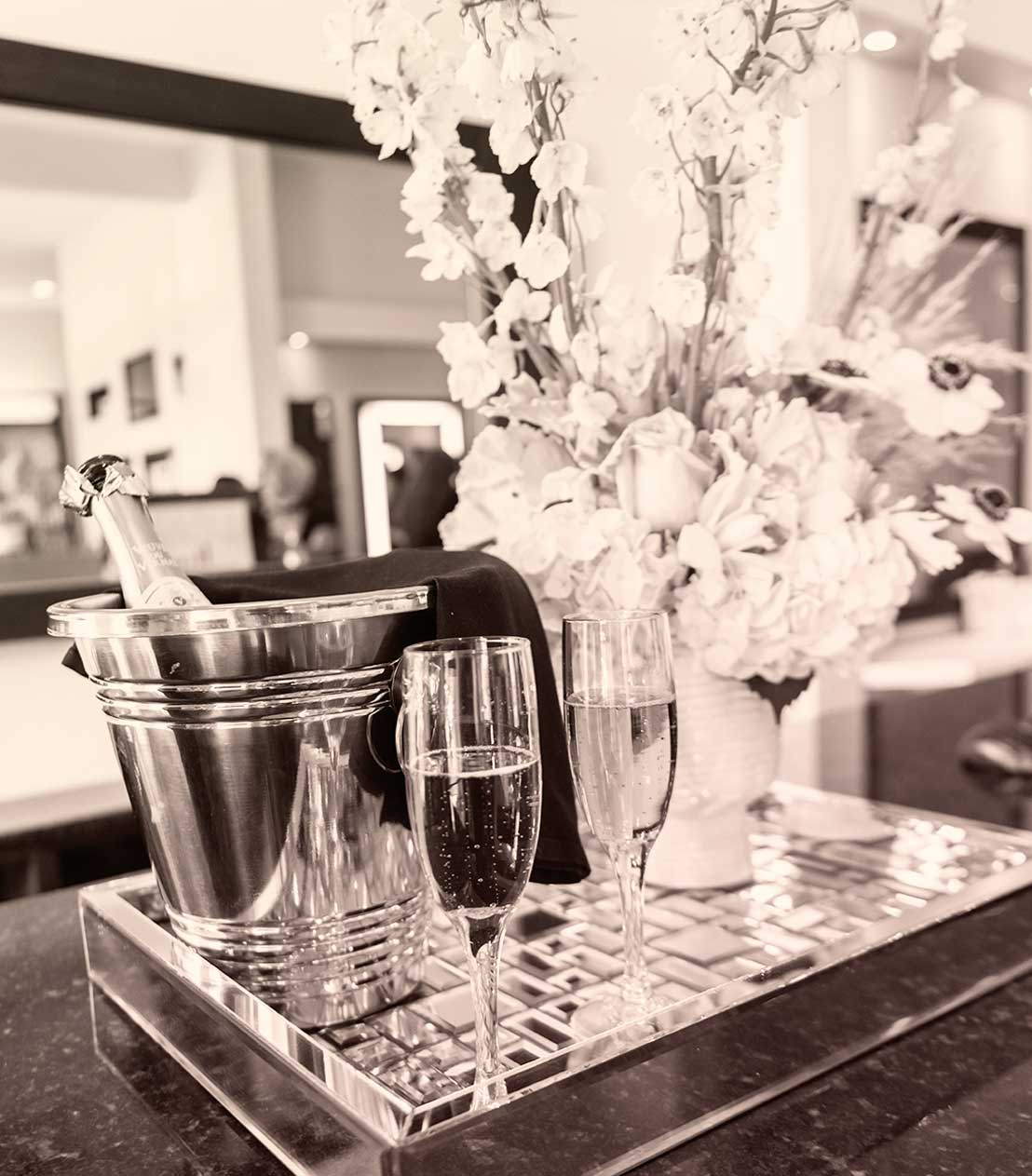 Refreshment services at The Beauty District, Naples Hair Salon